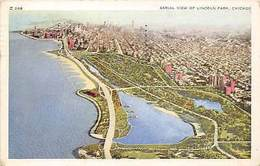 Chicago, Aerial View Of Lincoln Park 1955 - United States