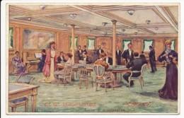 CPA ILLUSTRATEUR Ernest LESSIEUX Salon De Conversation Du Paquebot CHICAGO Compagnie Générale Transatlantique - Lessieux
