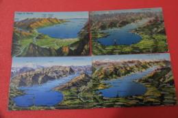 Lago Di Garda Brescia 4 Mappe Viste Da Posizioni Differenti Anni 20 - Italia