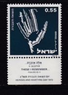 ISRAEL, 1973, Unused Stamp(s), With Tab, Memorial Holocaust, SG560, Scannr. 17665 - Israël