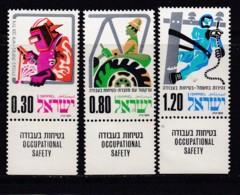 ISRAEL, 1975, Unused Stamp(s), With Tab, Occupational Safety, SG592-594, Scannr. 17678 - Israël