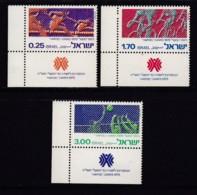ISRAEL, 1975, Unused Stamp(s), With Tab, Hapoel Games, SG601-603, Scannr. 17680 - Israël