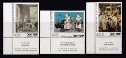 ISRAEL, 1975, Unused Stamp(s), With Tab, Paintings, SG604-606, Scannr. 17681 - Israël