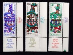 ISRAEL, 1975, Unused Stamp(s), With Tab, New Year - Judges, SG608-610, Scannr. 17682 - Israël