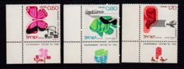 ISRAEL, 1975, Unused Stamp(s), With Tab, Environmental Quality, SG617-619 Scannr. 17686 - Israël