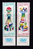 ISRAEL, 1976, Unused Stamp(s), With Tab, Chess Olympiade, SG646-647, Scannr. 17694 - Israël