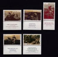ISRAEL, 1976, Unused Stamp(s), With Tab, Pioneers, SG650-654, Scannr. 17696 - Israël