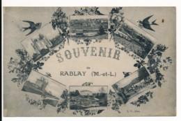 CPA 49 RABLAY SUR LAYON Carte Rare Souvenir Multivues - Other Municipalities
