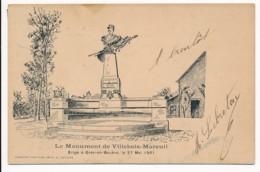 CPA 53 GREZ CREZ EN BOUERE Carte Rare Le Monument De Villebois Mareuil érigé En 1901 - Crez En Bouere