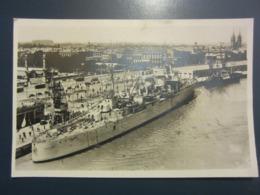 Carte Postale Croiseur Duguay-Trouin Devant Les Quinconces à Bordeaux - Krieg