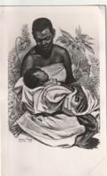*** OUGANDA UGANDA ***  Baganda Mother  TTB Suprbe Timbrage -petit Pli Carte -- - Oeganda