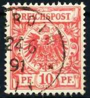 D-REICH KRONE ADLER Nr 47b Zentrisch Gestempelt X68EDF2 - Used Stamps
