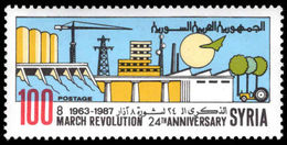 Syria 1987 Baathist Revolution Of 8th March Unmounted Mint. - Syria