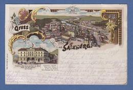 AK Gruß Aus Salzburg Blick V. D. Festung/ Schäffler Gasthof Gel. 1899 N. Bamberg - Österreich