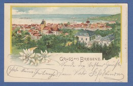 AK Gruß Aus Bregenz  Stadtansicht Gelaufen 1900 Nach München - Autriche
