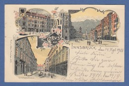 AK Gruß Aus Innsbruck Landhausstr./ Maria Theresienstr. Gelaufen 1900 N. München - Autriche