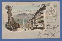AK Innsbruck Maria Theresienstraße Gelaufen 1903 Nach München - Österreich