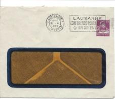 Entier Postal Privé FRANCILLON Lausanne + Cachet Flamme LAUSANNE CONFÉRENCE DE LA PAIX EN ORIENT 1922, Lettre - Entiers Postaux