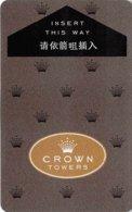 CROWN TOWERS - Melbourne, Australia - Hotel Room Key Card, Hotelkarte, Schlüsselkarte, Clé De L'Hôtel - Hotelkarten