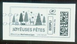 Joyeuses Fêtes Vignette Illustrée - 2010-... Illustrated Franking Labels