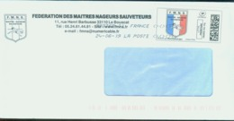 Fédération Des Maîtres Nageurs Sauveteurs - 2010-... Illustrated Franking Labels