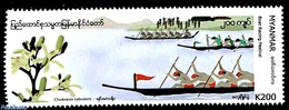 Myanmar/birma 2019 Boat Racing Festival 1v, (Mint NH), Ships And Boats - Folklore - Myanmar (Birma 1948-...)
