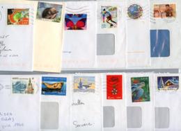 LOT DE 69 LETTRES PERIODE 2001 à 2012 FORMAT AMERICAIN AU TARIF ET DANS LES DATES POUR LA PLUPART - Marcophilie (Lettres)