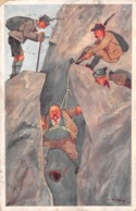 AUSTRIAN COMIC MOUNTAINEERING POSTCARD - POSTED  IN 1912 ~ A 107 YEAR OLD ARTIST SIGNED POSTCARD #99820 - Austria