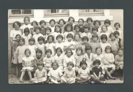VILLEFRANCHE SUR SAONE (69) - L'Ecole Primaire Du Nord - Classe De Filles Avec Giselle CPA Carte Photo - Villefranche-sur-Saone
