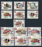 Yemen Kingdom 1968 Mi#434-446 Fish Opt Grenoble Olympics MUH - Yemen