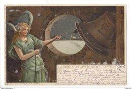 21492 - Bonne Année Gluckliches Neujahr Happy New Year Ange Engel Angel Cloche Sign.Mailick 1901 - Nouvel An