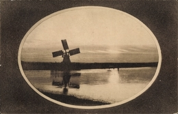 Cp Insel Jütland, Der Er Et Yndigt Land, Ved Solnedgang, Windmühle - Dänemark