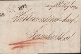 Vorphilatelie Württemberg Brief Zweizeiler ULM 24. JAN. 1845 Nach Laucherthal - Wuerttemberg