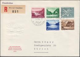 Schweiz 627-631 Pro Patria Seen Wasserläufe Satz Auf Schmuck-R-FDC BERN 1.6.1953 - Schweiz