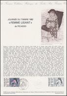 Collection Historique: Tag Der Briefmarke - Picasso: Femme Lisant 27.3.1982 - Briefmarken