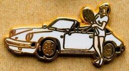 PORSCHE 911 BLANCHE - JOUEUSE DE TENNIS - EGF - ATALANTE -     (JAUNE) - Porsche