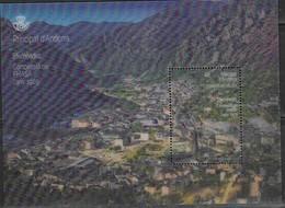 SPANISH ANDORRA, 2019, MNH, 3D LENTICULAR SHEETLET, FHASA, MOUNTAINS, LANDSCAPES - Geology