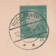 Ostpreussen Deutsches Reich Karte Mit Tagesstempel Rudczanny **a 1930 Lk Sensburg RB Allenstein - Briefe U. Dokumente