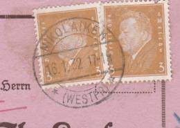 Westpreussen Deutsches Reich Karte Mit Tagesstempel Nikolaiken * Westpr. * 1932 Lk Stuhm RB Marienweder Ostpreussen ? - Briefe U. Dokumente
