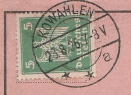 Ostpreussen Deutsches Reich Karte Mit Tagesstempel Kowahlen **a 1926 LK Oletzko RB Gumbinnen - Briefe U. Dokumente
