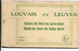 Carnet Met 8 Kaarten - Leuven - Missiën Der Paters Der Heilige Harten. - Leuven