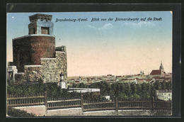 AK Brandenburg / Havel, Blick Von Der Bismarckwarte Auf Die Stadt - Brandenburg