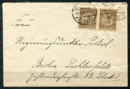 """5269 - DEUTSCHES REICH - Waagerechtes Paar Mi. 338 Mit Perfin """"MB"""" Auf Brief Ab Berlin - Briefe U. Dokumente"""