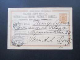 Finnland / Russland 1882 Ganzsache P 16 Mit 2 Stempeln Aus Dem Bedarf! - Storia Postale