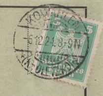 Ostpreussen Deutsches Reich Karte Mit Tagesstempel Kowahlen * Kr Oletzko A 1924 LK Oletzko RB Gumbinnen Werbung Huhn - Briefe U. Dokumente