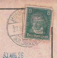 Ostpreussen Deutsches Reich Karte Mit Tagesstempel Kunigehlen Lk Darkehmen RB Gumbinnen 1928 - Briefe U. Dokumente