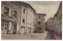 CPA 07 Ardèche Chalencon Place Du Plot Près De Vernoux En Vivarais Lamastre Le Cheylard St Saint Agrève Privas Silhac - France