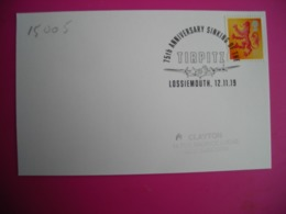 75e Anniversaire Naufrage De Navir Tirpitz,  Navir, Timbre écosse - Commemorative Postmarks