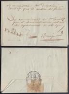 """FRANCE LETTRE DATE DE FURNES 22/04/1798 """" 91 FURNES """" VERS BRUGES (VG) DC-4631 - Marcophilie (Lettres)"""