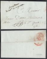 """FRANCE LETTRE DE 1811 DE PARIS """"DIRECTEUR DE L'ADmi DE LA GUERRE"""" VERS St QUENTIN (VG) DC-4628 - Postmark Collection (Covers)"""